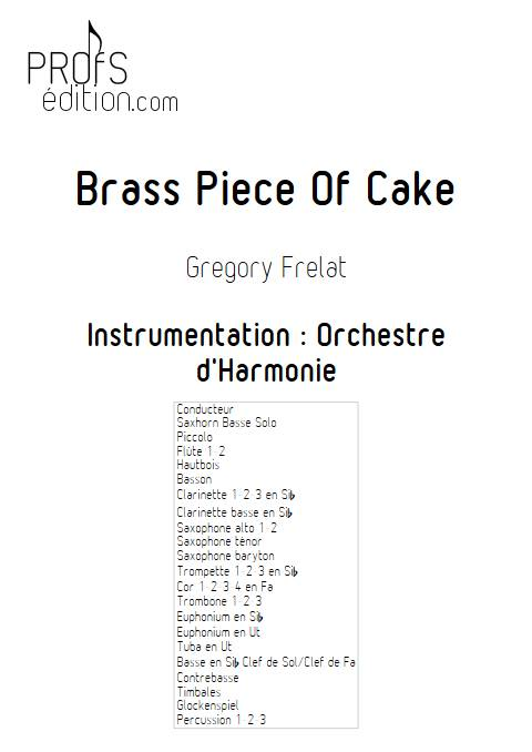 Brass Piece of Cake - Saxhorn Basse & Harmonie - FRELAT G. - front page