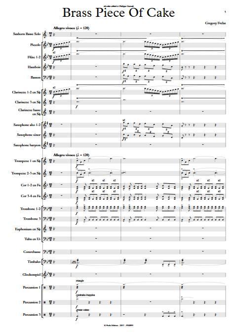Brass Piece of Cake - Saxhorn Basse & Harmonie - FRELAT G. - app.scorescoreTitle