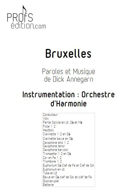 Bruxelles - Orchestre d'Harmonie - ANNEGARN D. - front page
