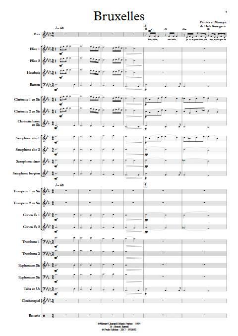 Bruxelles - Orchestre d'Harmonie - ANNEGARN D. - app.scorescoreTitle