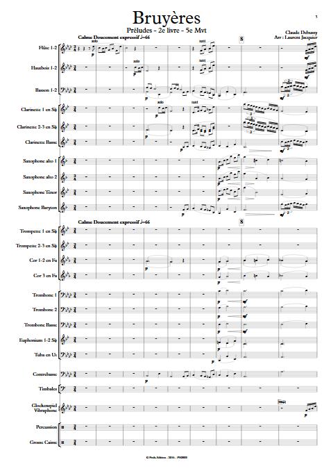 Bruyères -Orchestre d'Harmonie - DEBUSSY C. - app.scorescoreTitle