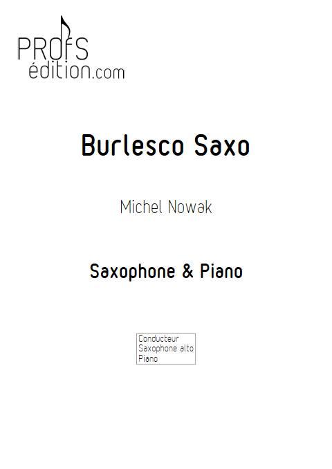 Burlesco Saxo - Saxophone & Piano - NOWAK M. - front page