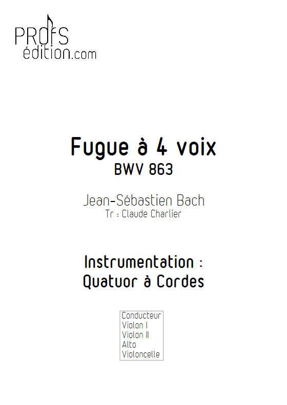Clavier bien tempéré BWV 863 - Quatuor à Cordes - BACH J. S. - front page