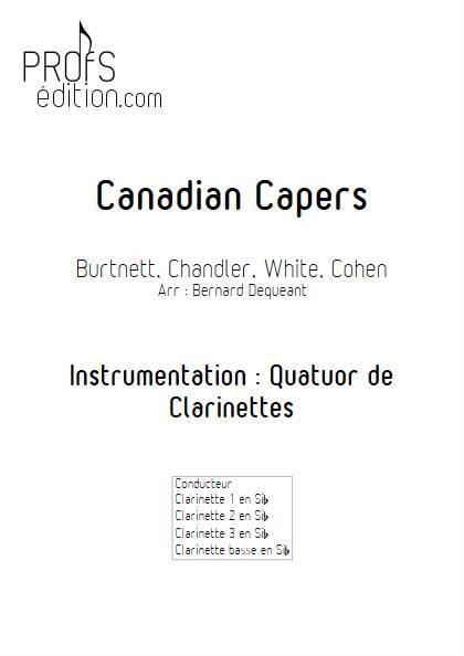 Canadian Capers - Quatuor de Clarinettes - BURNETT E. - front page