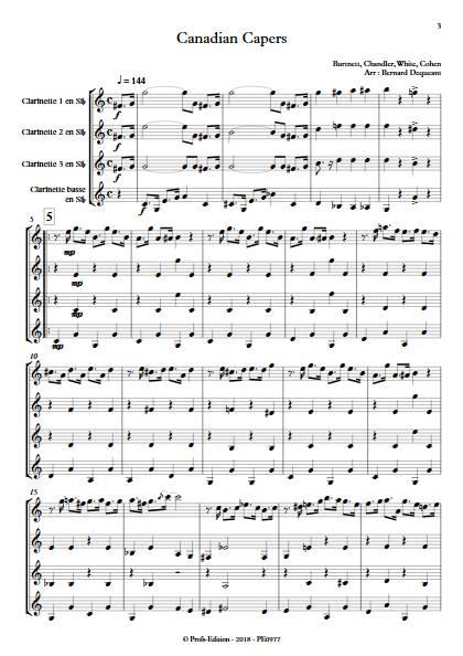 Canadian Capers - Quatuor de Clarinettes - BURNETT E. - app.scorescoreTitle