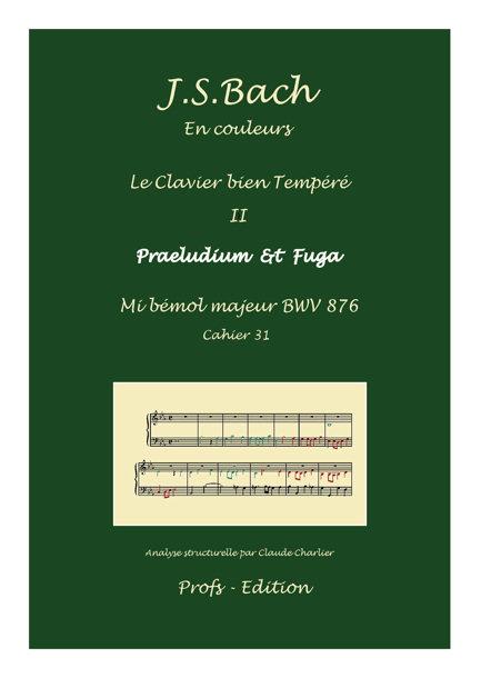 Clavier Bien Tempéré 2 BWV 876 - Analyse - CHARLIER C. - front page