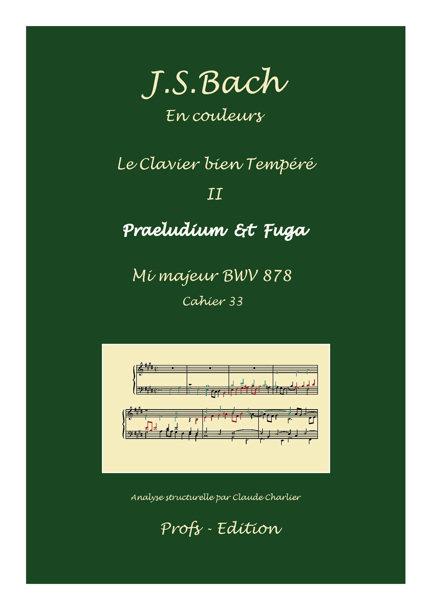 Clavier Bien Tempéré 2 BWV 878 - Analyse - CHARLIER C. - front page