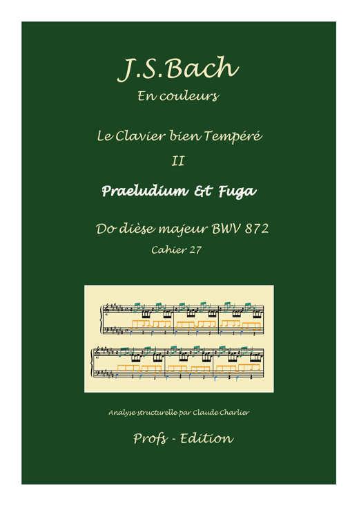 Clavier Bien Tempéré 2 BWV 872 - Analyse - CHARLIER C. - front page