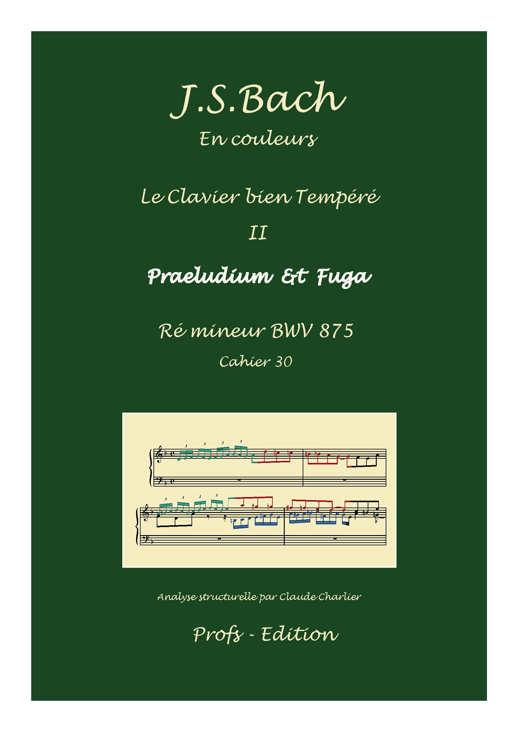 Clavier Bien Tempéré 2 BWV 875 - Analyse - CHARLIER C. - front page