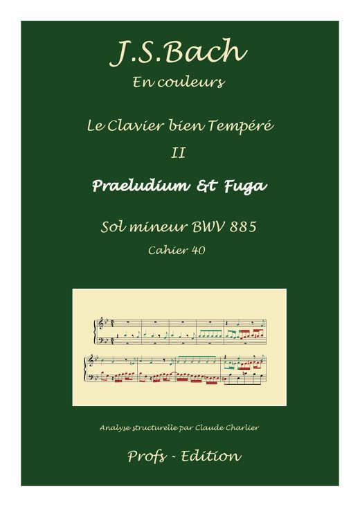 Clavier Bien Tempéré 2 BWV 885 - Analyse - CHARLIER C. - front page