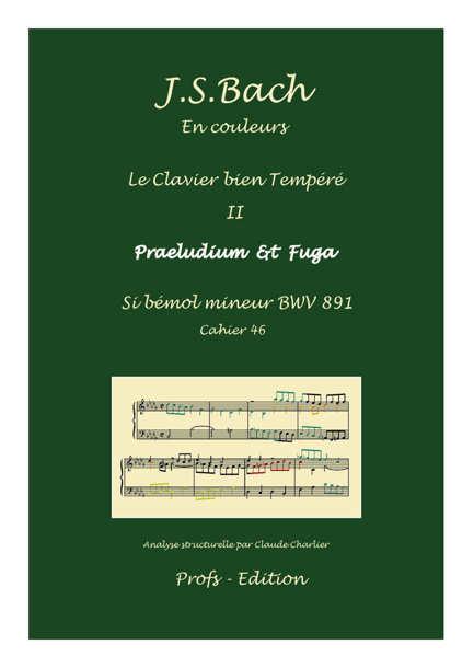 Clavier Bien Tempéré 2 BWV 891 - Analyse - CHARLIER C. - front page