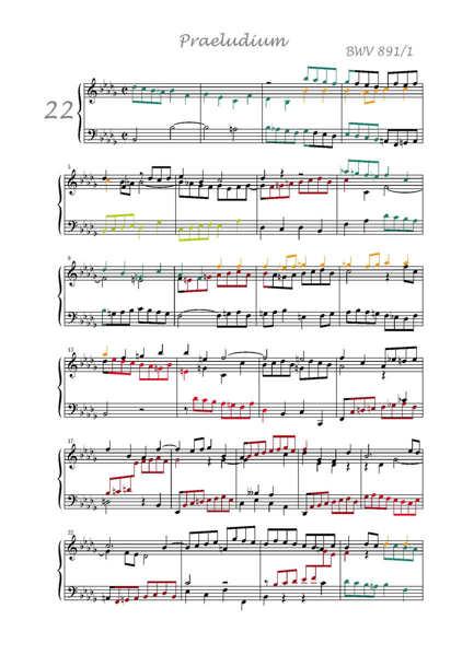 Clavier Bien Tempéré 2 BWV 891 - Analyse - CHARLIER C. - app.scorescoreTitle