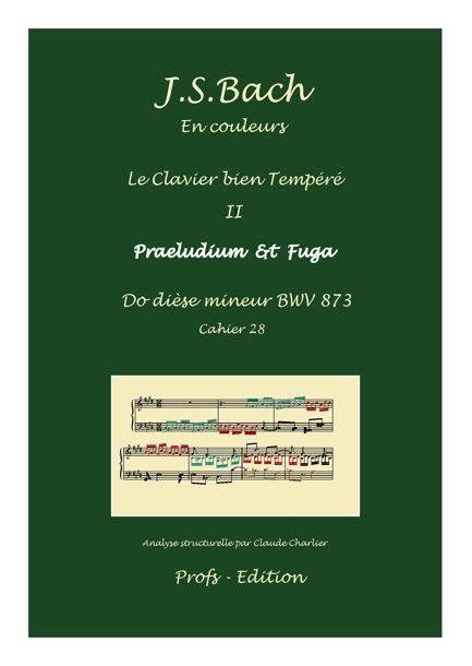 Clavier Bien Tempéré 2 BWV 873 - Analyse - CHARLIER C. - front page