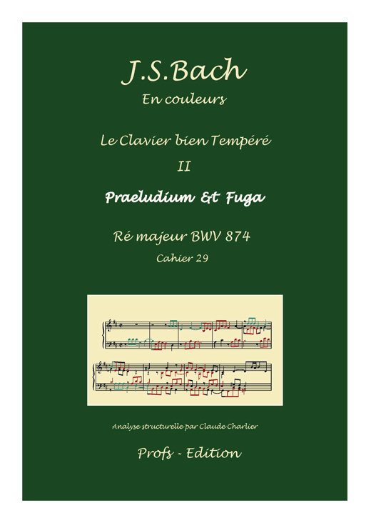 Clavier Bien Tempéré 2 BWV 874 - Analyse - CHARLIER C. - front page