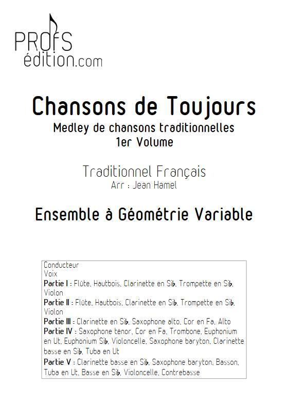 Chansons de toujours Vol.1 - Ensemble Variable - TRADITIONNEL FRANCAIS - front page