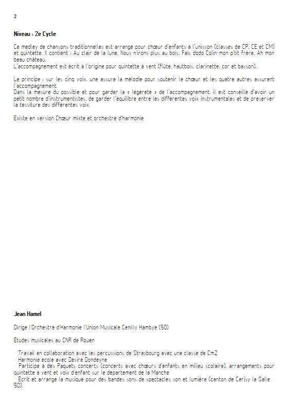 Chansons de toujours Vol.1 - Ensemble Variable - TRADITIONNEL FRANCAIS - Educationnal sheet
