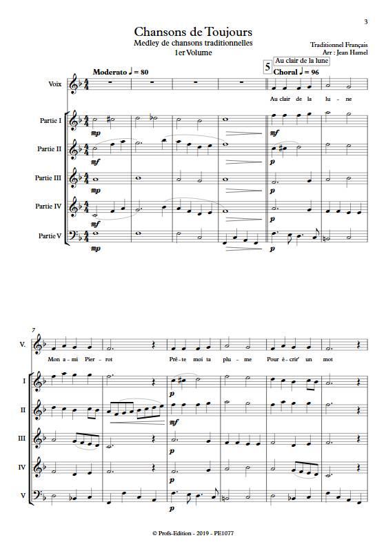 Chansons de toujours Vol.1 - Ensemble Variable - TRADITIONNEL FRANCAIS - app.scorescoreTitle