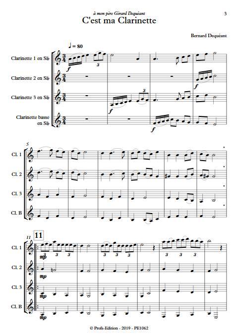 C'est ma clarinette - Quatuor de Clarinettes - DEQUEANT B. - app.scorescoreTitle