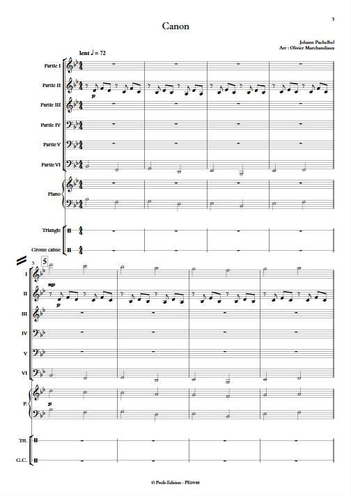 Canon - Ensemble Variable - PACHELBEL J. - app.scorescoreTitle