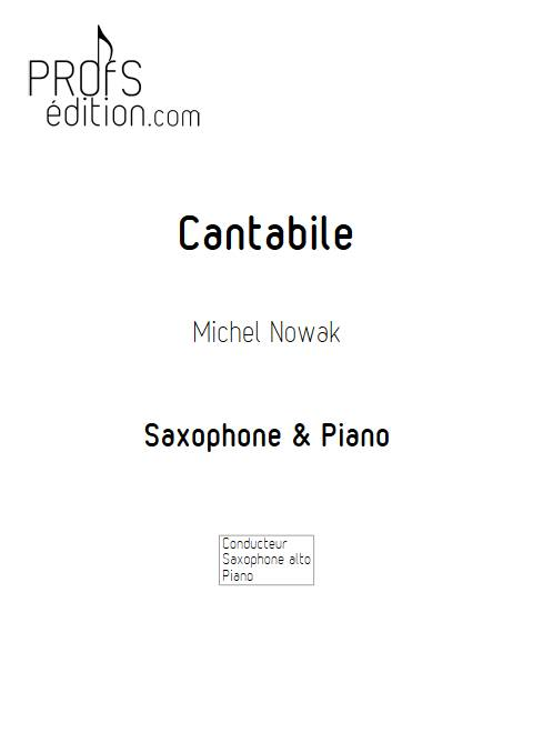 Cantabile- Saxophone Piano - NOWAK M. - front page