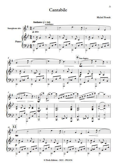 Cantabile- Saxophone Piano - NOWAK M. - app.scorescoreTitle