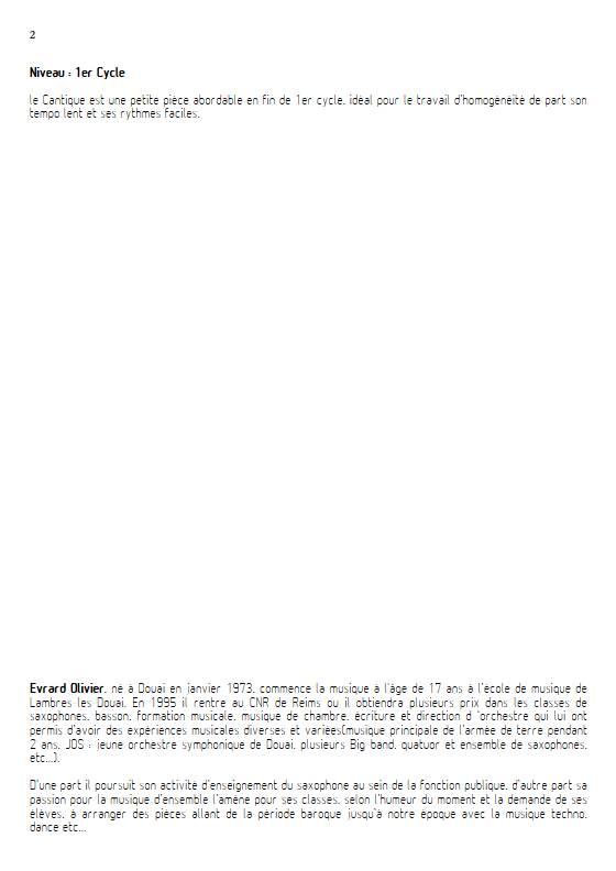 Cantique de Jean Racine - Quatuor de saxophones et clavier - FAURE G. - Educationnal sheet