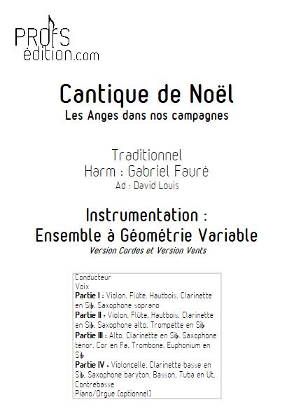 Les Anges dans nos campagnes - Ensemble à Géométrie Variable - TRADITIONNEL - front page