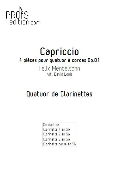 Capriccio - Quatuor de Clarinettes - MENDELSSOHN F. - front page