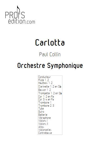 Carlotta - Orchestre Symphonique - COLLIN P. - front page