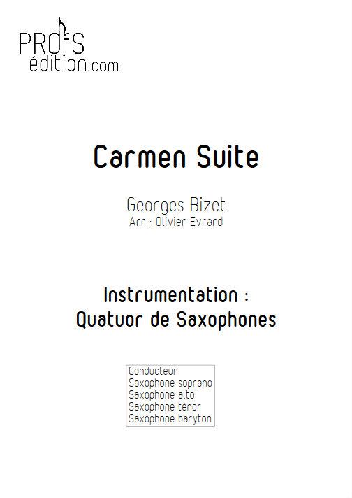 Carmen Suite - Quatuor de Saxophones - BIZET G. - front page