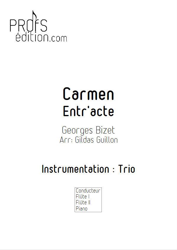 Carmen, Entracte -Trio 2 Flûtes & Piano - BIZET G. - front page