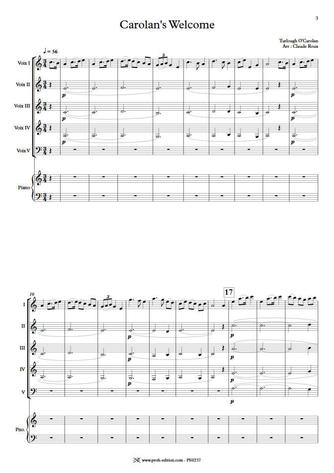 Carolan's Welcome - Ensemble à Géométrie Variable - O'CAROLAN T. - app.scorescoreTitle