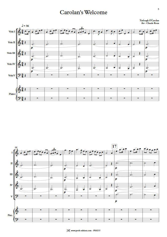 Carolan's Welcome - Ensemble à Géométrie Variable - O'CAROLAN T. - app.scorescoreTitle