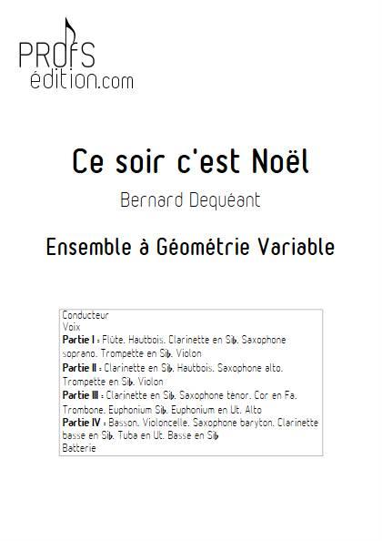 Ce soir c'est Noël - Ensemble Variable - DEQUEANT B. - front page