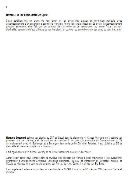 Ce soir c'est Noël - Ensemble Variable - DEQUEANT B. - Educationnal sheet