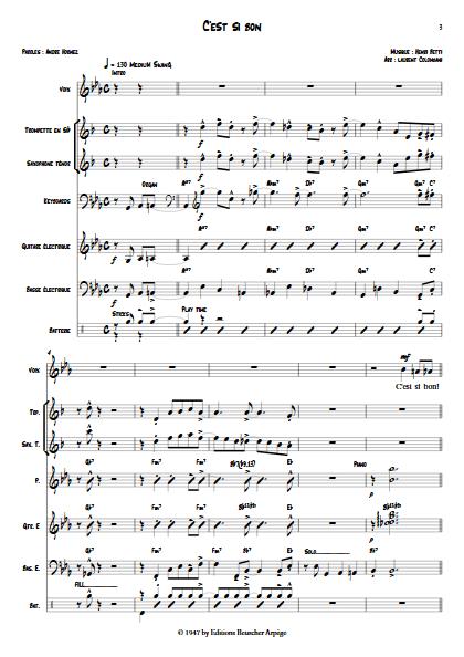C'est si bon - Septet Jazz - BETTI H. - app.scorescoreTitle