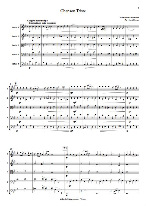 Chanson Triste - Ensemble à Géométrie Variable - TCHAIKOVSKY P. I. - app.scorescoreTitle