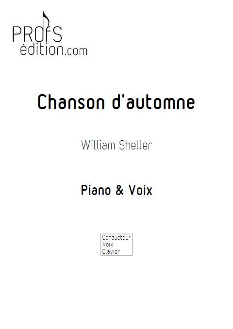Chanson d'automne - Piano Voix - SHELLER W. - front page