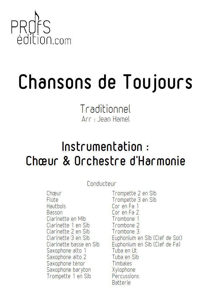 Chansons de Toujours - Orchestre d'Harmonie et Chœur - TRADITIONNEL - front page