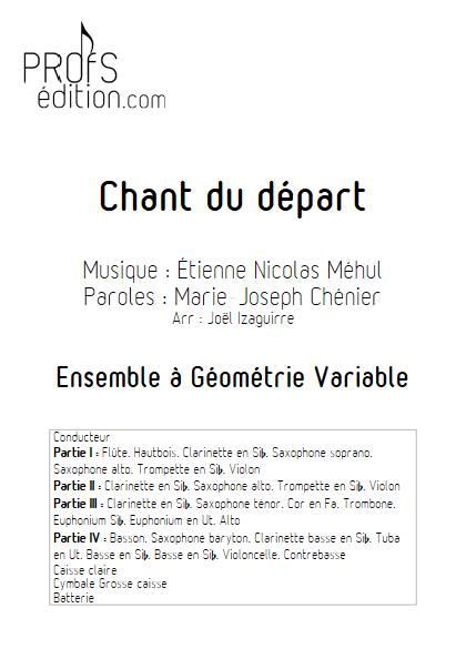 Chant du départ - Ensemble Variable - MEHUL E. N. - front page