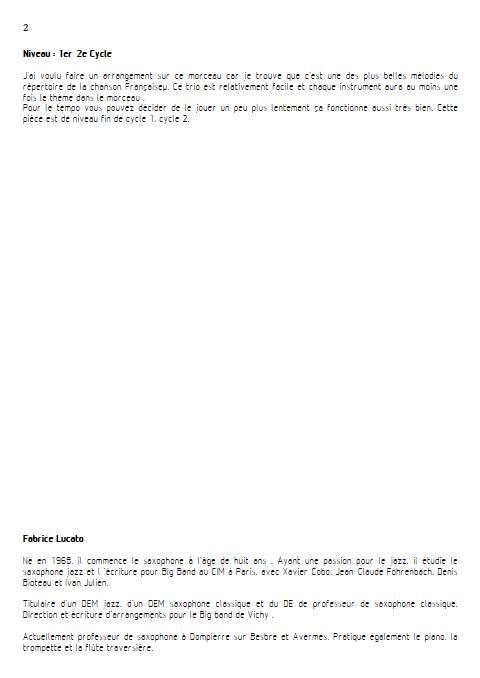 Chez Laurette - Trio à cordes - ROLAND V. - Educationnal sheet
