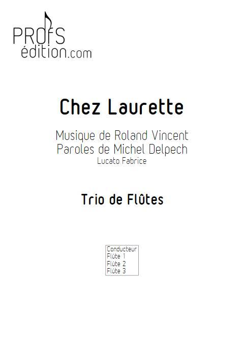 Chez Laurette - Trio Flûtes - ROLAND V. - front page