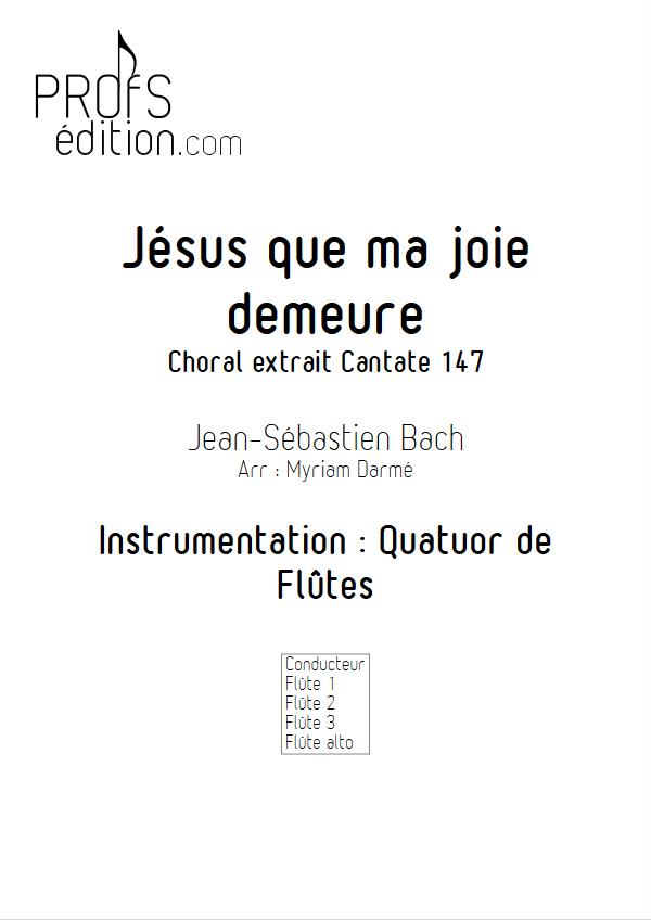 Jésus que ma joie demeure - Quatuor de Flûtes - BACH J. S. - front page