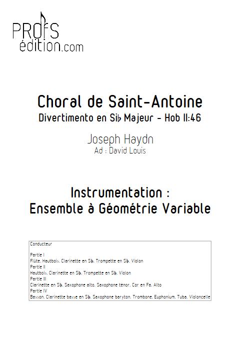 Choral de Saint-Antoine - Ensemble à Géométrie Variable - HAYDN J. - front page