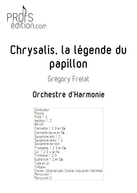 Chrysalis la légende du Papillon - Orchestre d'Harmonie - FRELAT G. - front page