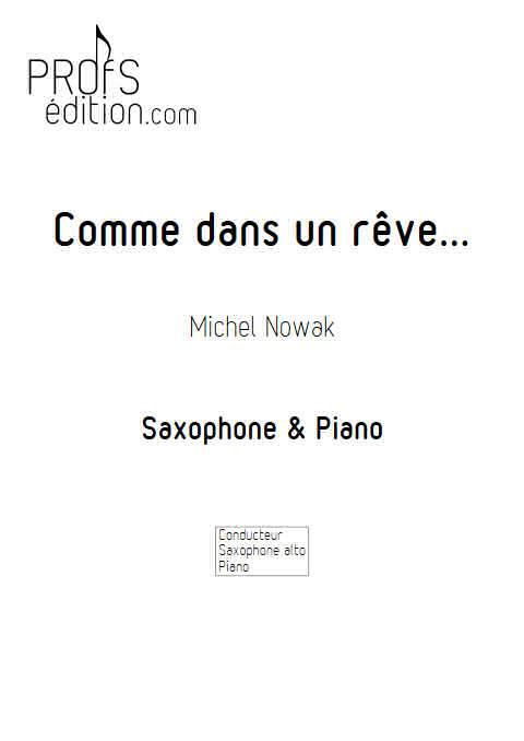 Comme dans un rêve - Saxophone Piano - NOWAK M. - front page