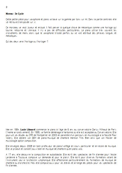 Compte à rebours - Saxophone & Piano - LIBOUREL L. - Educationnal sheet