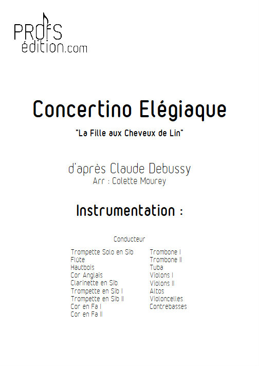 Concertino Elegiaque (La fille aux cheveux de lin) - Orchestre Symphonique - DEBUSSY C. - front page