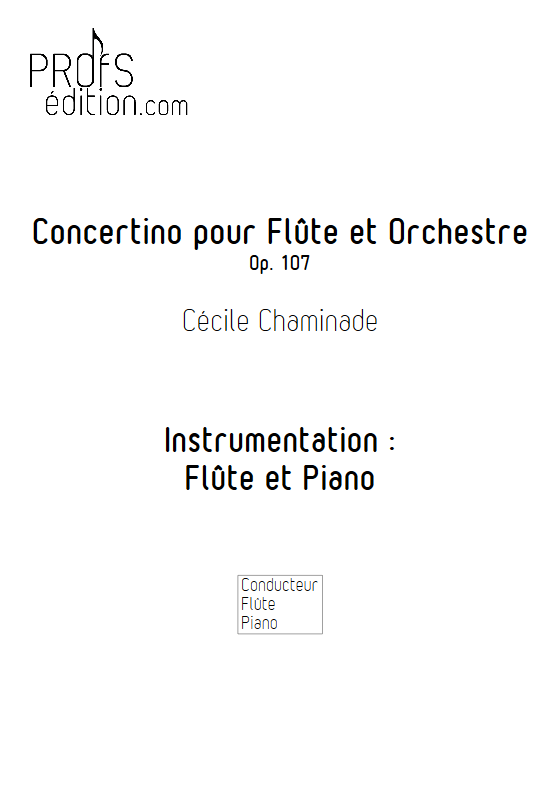 Concertino Op.107 - Flûte et Piano - CHAMINADE C. - front page