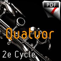 Concerto pour 2 violons BWV 1043 (Largo) - Quatuor de Clarinettes - BACH J. S.